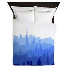City Skyline Queen Duvet