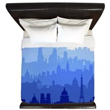 City Skyline King Duvet