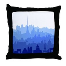 City Skyline Custom Pillow
