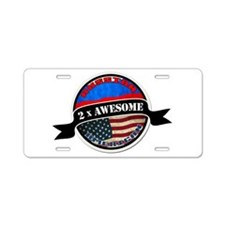 Russian American 2 x Awesome Aluminum License Plat