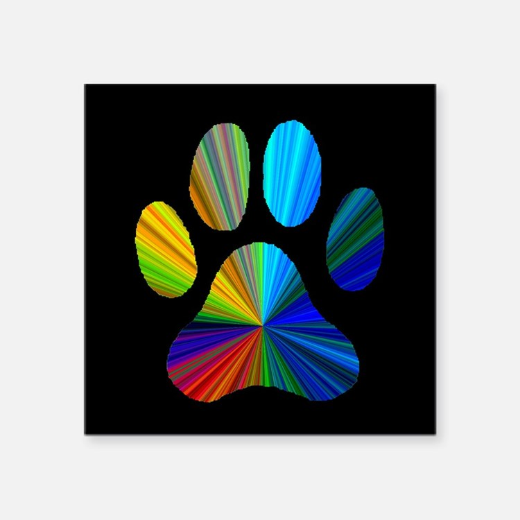 "PAW PRINT Square Sticker 3"" x 3"""