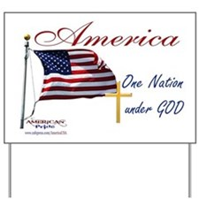 America One Nation Under God Yard Sign