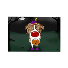 Aussie Clown Halloween Rectangle Magnet