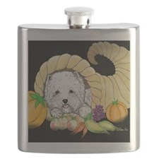 Thanksgiving Westie Flask