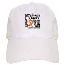 Support Husband Leukemia Baseball Cap
