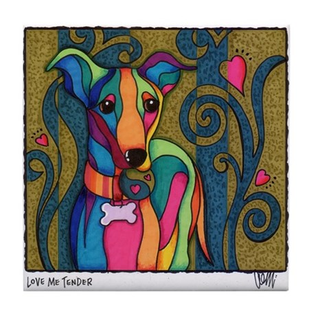 Love Me Tender Tile Coaster