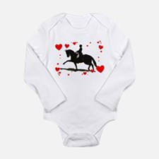 Dressage and Hearts Long Sleeve Infant Bodysuit