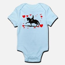 Dressage and Hearts Infant Bodysuit