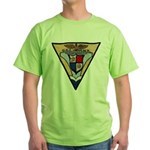USS HANCOCK Green T-Shirt