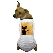 Black Cat Swirly Orange Dog T-Shirt