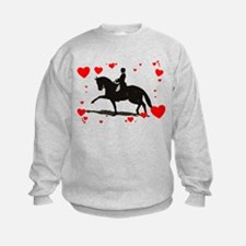 Dressage and Hearts Sweatshirt
