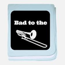 Bad to the Trombone baby blanket