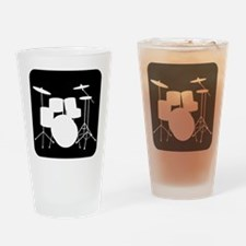 Drumset Drinking Glass