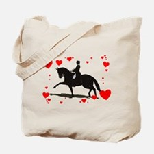 Dressage and Hearts Tote Bag