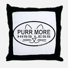 Purr More Throw Pillow