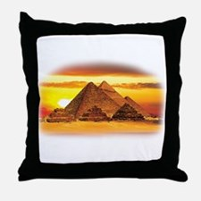 The Pyramids at Giza Throw Pillow