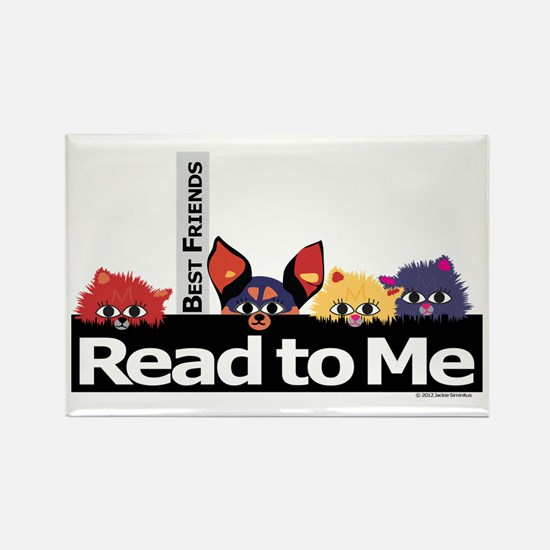 Cats & Dogs Rectangle Magnet (10 pack)