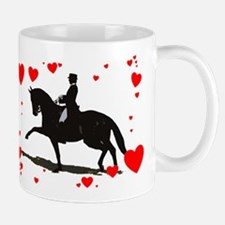 Dressage and Hearts Mug