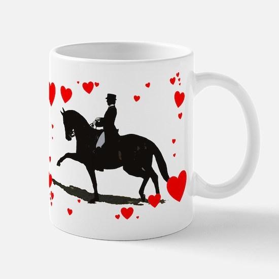 Dressage and Hearts Mug