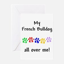 French Bulldog Walks Greeting Cards (Pk of 10)