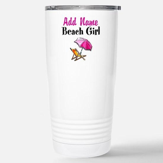 BEACH GIRL Stainless Steel Travel Mug