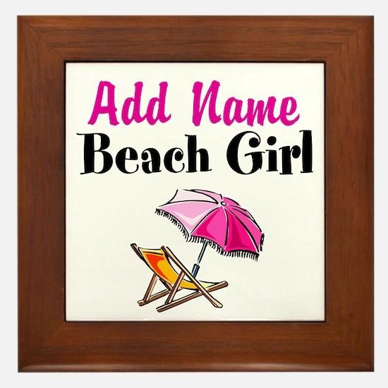 BEACH GIRL Framed Tile