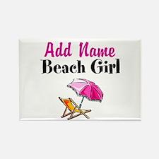 BEACH GIRL Rectangle Magnet