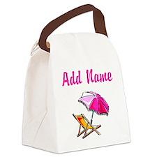BEACH GIRL Canvas Lunch Bag