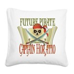 PirateHoratio.png Square Canvas Pillow