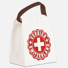 Verbier White Cross Canvas Lunch Bag