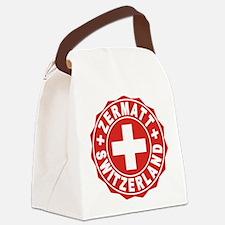 Zermatt White Cross Canvas Lunch Bag