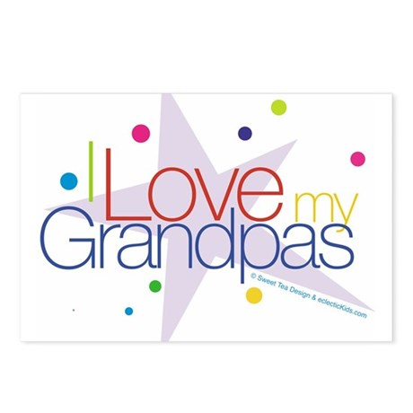 """""""I Love My Grandpas"""" Postcards (Package of 8)"""