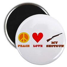 "Peace Love My Shotgun 2.25"" Magnet (100 pack)"