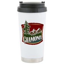 Chamonix Mountain Banner Travel Mug