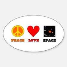 Peace Love Space Decal