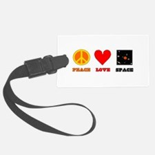 Peace Love Space Luggage Tag