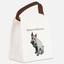 Miniature Schnauzer Canvas Lunch Bag
