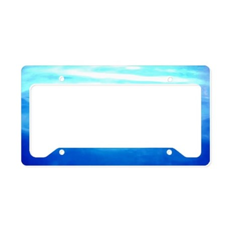 OCEAN BLUE * License Plate Holder
