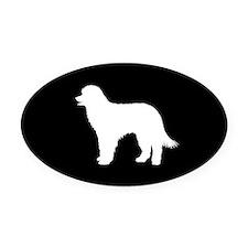 Pyrenean Shepherd Oval Car Magnet