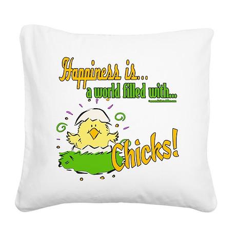 HappinessChicks copy.png Square Canvas Pillow