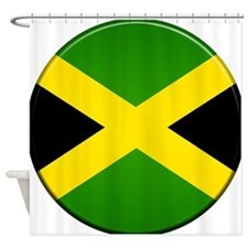 Jamaican Button Shower Curtain
