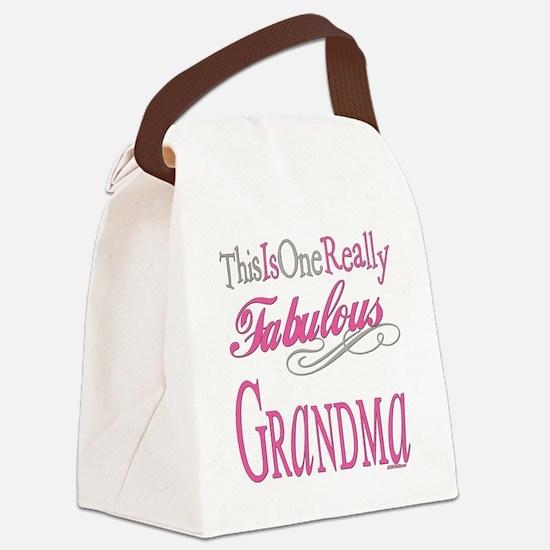 Fabulous GRANDMA.png Canvas Lunch Bag
