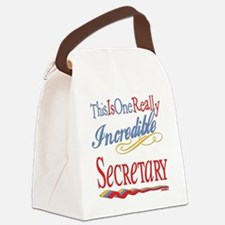 Incredible SECRETARY.png Canvas Lunch Bag