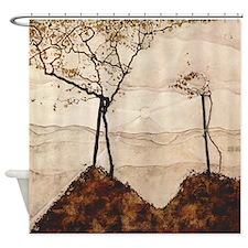 Egon Schiele Autumn Sun And Trees Shower Curtain