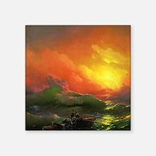 "Ivan Aivazovsky The Ninth Wave Square Sticker 3"" x"