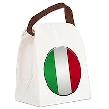 Italian Button Canvas Lunch Bag