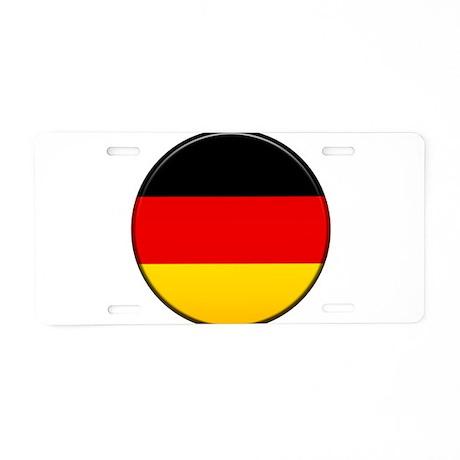 German Button Aluminum License Plate
