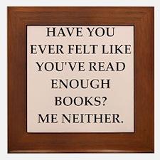 books Framed Tile
