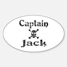 Captain Jack (distressed) Oval Decal