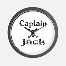 Captain Jack (distressed) Wall Clock
